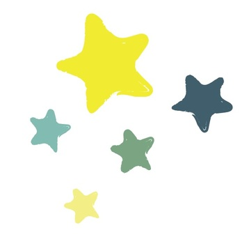 Flat star 5 pieces