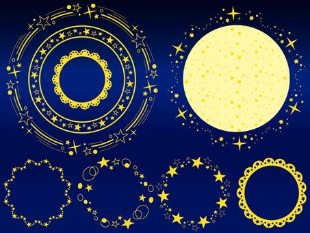 Sparkling star line (circle)