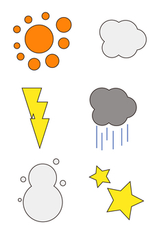 Weather mark set