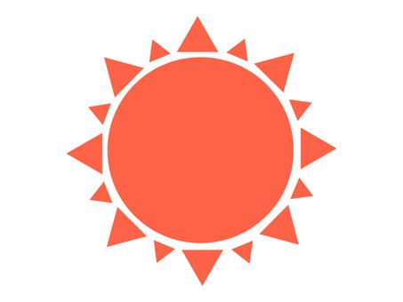 태양 흰색 경계선 투과