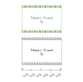 Hand-drawn green frame