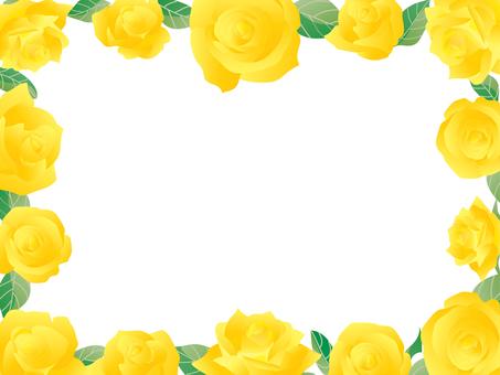 Rose frame 01 yellow