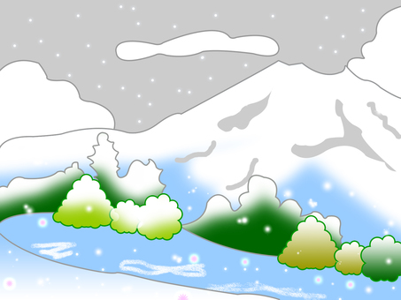 Mountain landscape winter