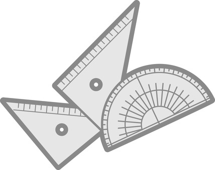 Protractor and triangular ruler