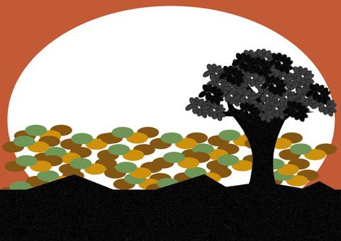 樹陰影3 A4