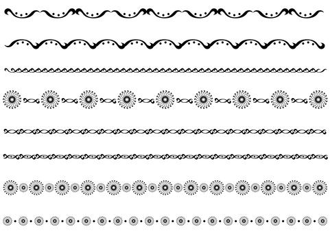 테두리 - 왜곡 곡선 - 블랙