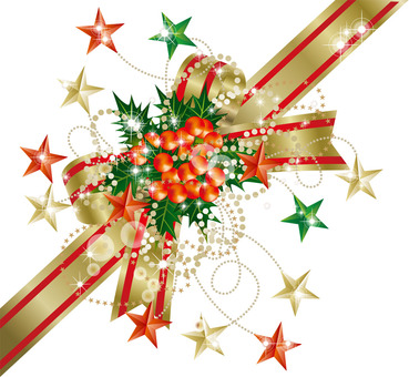 Christmas ribbon 3