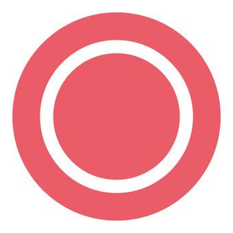 A circle mark