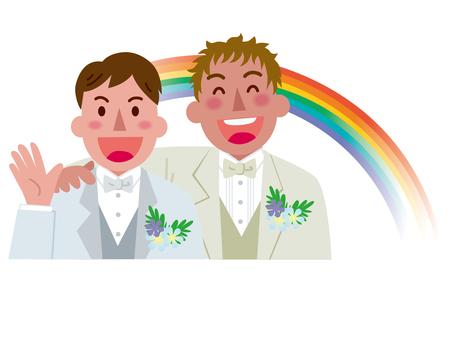 Marriage between men-Rainbow 3
