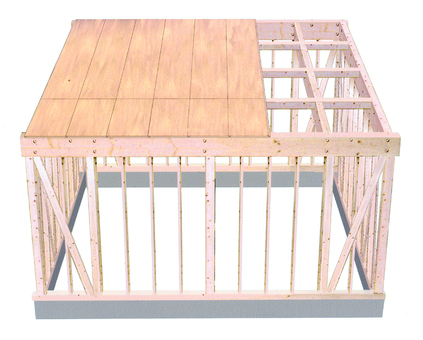房間的木結構圖