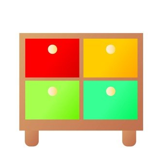 Colorful chest 1