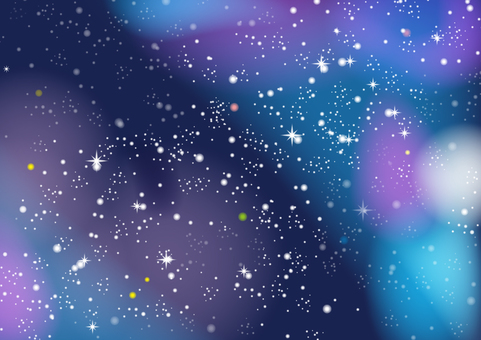Fantastic summer night sky background
