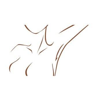 Woman's armpit (line drawing)