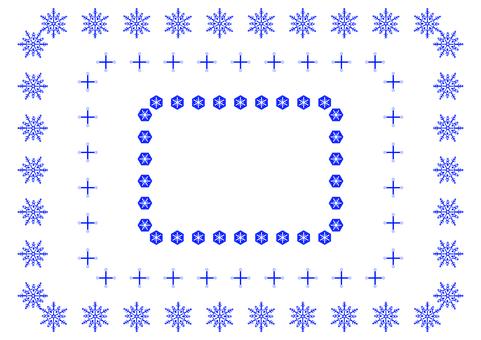 Simple snow crystal frame 2