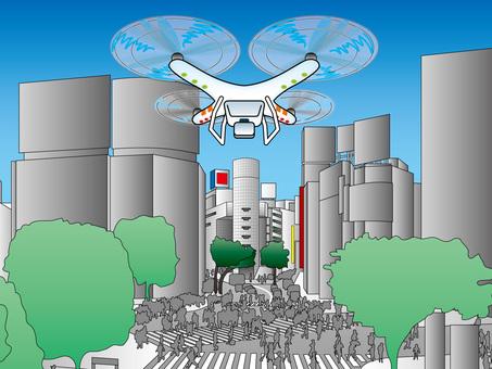 Tokyo famous spot (7) Shibuya 109 intersection drone