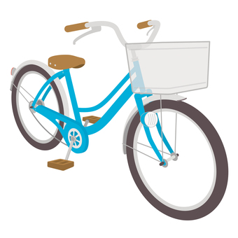 Blue children's bicycle