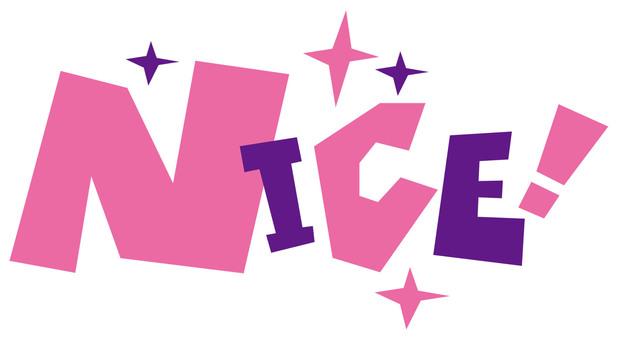Nice NICE ☆ Pop logo ☆ Wonderful!