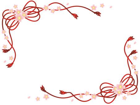 Japanese cherry-blossom frame 02