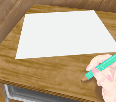 Desk and drawing paper ~ Everyday landscape