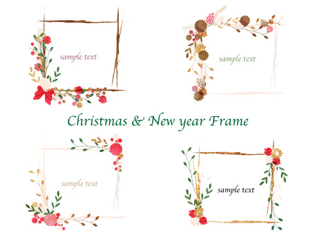 Winter color frame set ver 02