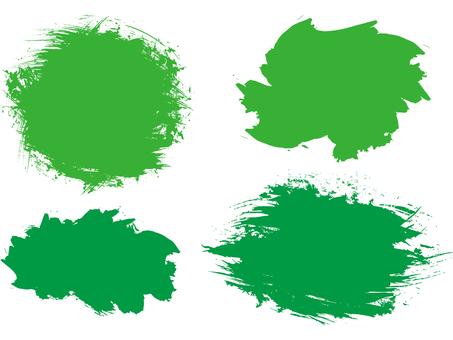 Handwritten brush Japanese-style green green frame Background frame Spring