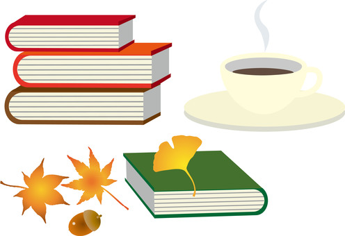Autumn reading and coffee