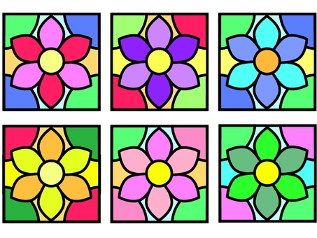 Stained glass style tile