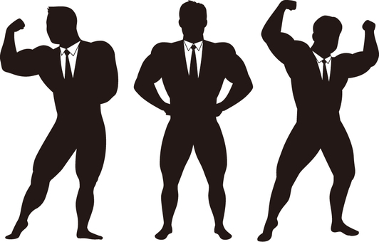 Businessman Silhouette (Bodybuilder)
