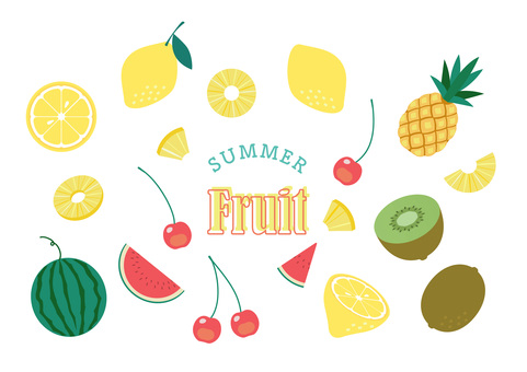 Summer fruit material