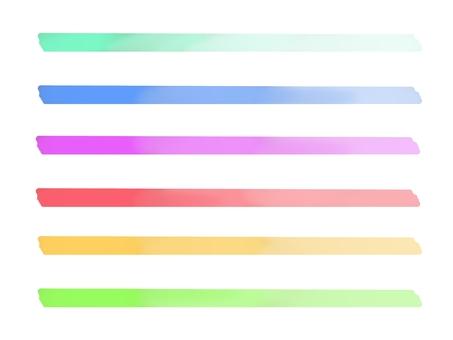 Simple gradation line