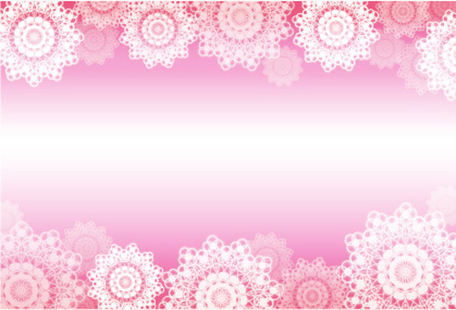 Lace friendly gift message card (pink)