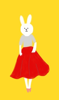 Fashionable rabbit
