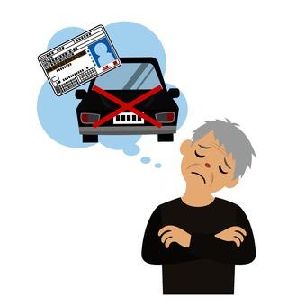 Men suffering from license return