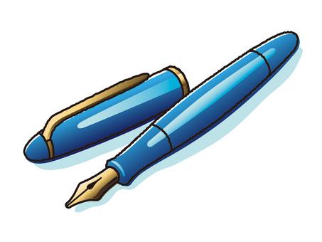 Blue Fountain Pen 1