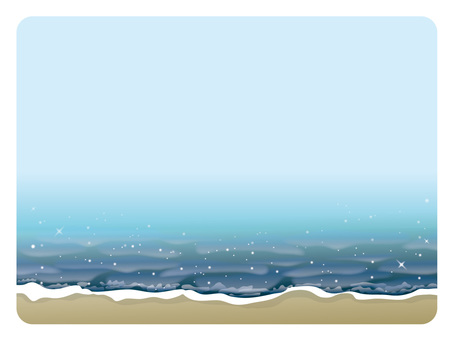 Background frame (10) beach
