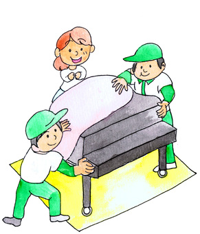 Piano packing, moving company