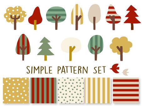 クリスマス シンプル パターン セット