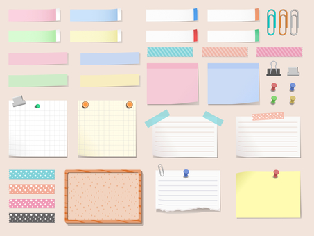 [High resolution] Stationery memo (no png background)