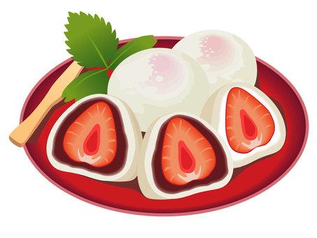 딸기 찹쌀떡