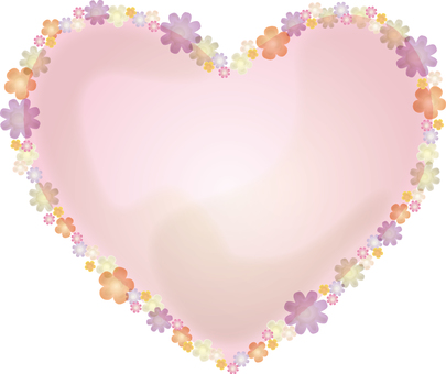 Watercolor touch heart frame