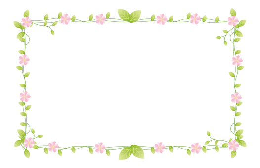 Pink flower decorative frame