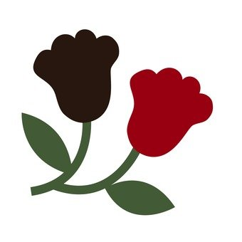 Dark brown and red flowers