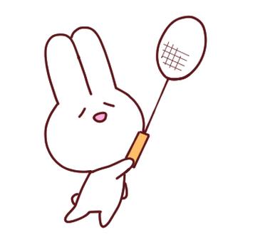Badminton rabbit left
