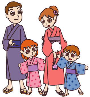 Parent and child of yukata