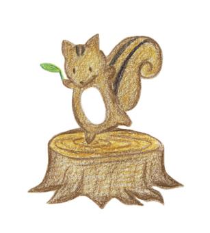 Squirrel on the stump