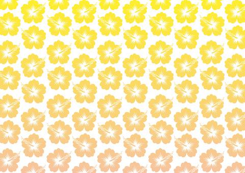 Hibiscus pattern (yellow × orange gradation)