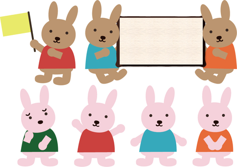 A variety of rabbits