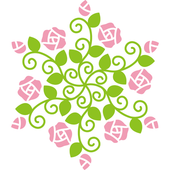 Rose hexagon
