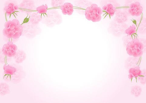 장미 프레임 _ 핑크 2