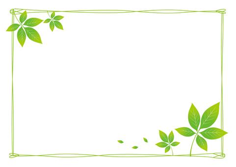 Konoha Leaf Frame (Green)